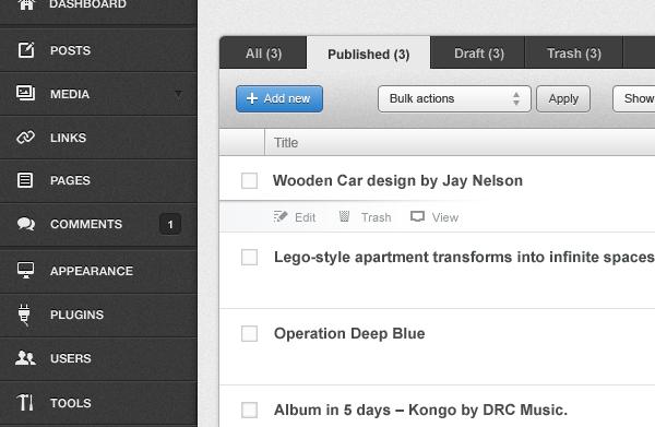 Flow Admin for WordPress