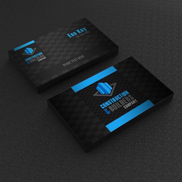 Free business card design template for construction on behance reheart Images