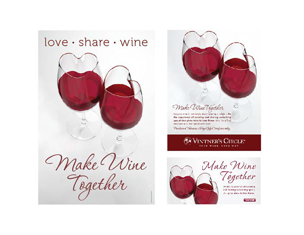 valentines day wine promotion on behance