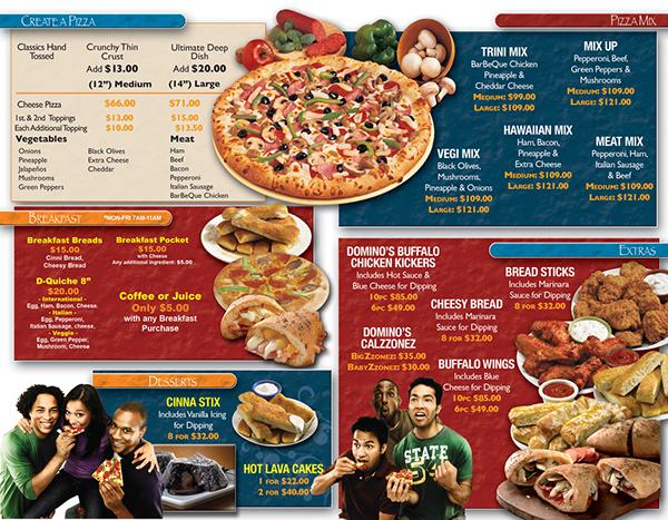 Domino S Pizza Menu On Behance