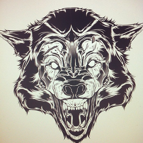 Wolf Time-Lapse (Vector) on Behance Крутые Скейтбордисты