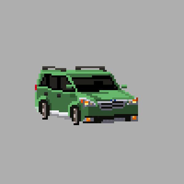 The Car Series Pixel Art On Behance