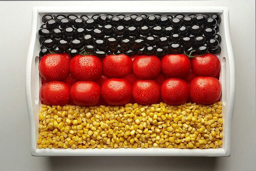 national flags made of food cvs flags