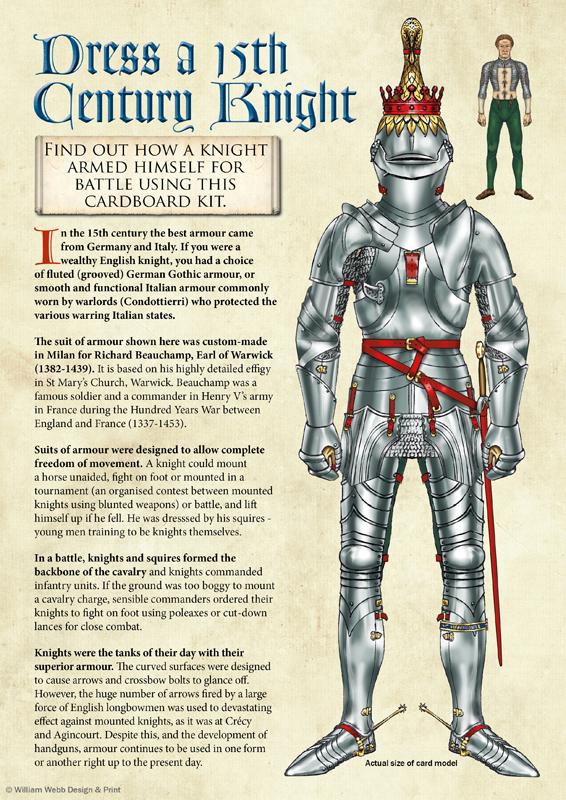 Dress a 15th century knight children's activity
