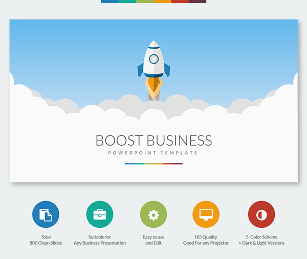 Boost business powerpoint template on behance toneelgroepblik Choice Image