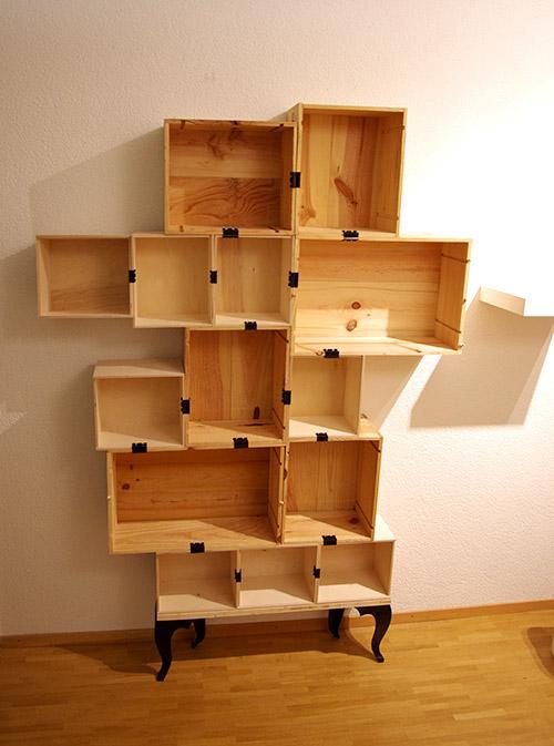 wine box shelf on behance. Black Bedroom Furniture Sets. Home Design Ideas