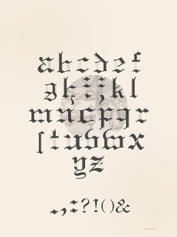 type graphic design poster letterforms Blackletter geometric Layout Matthew Metz ringling college