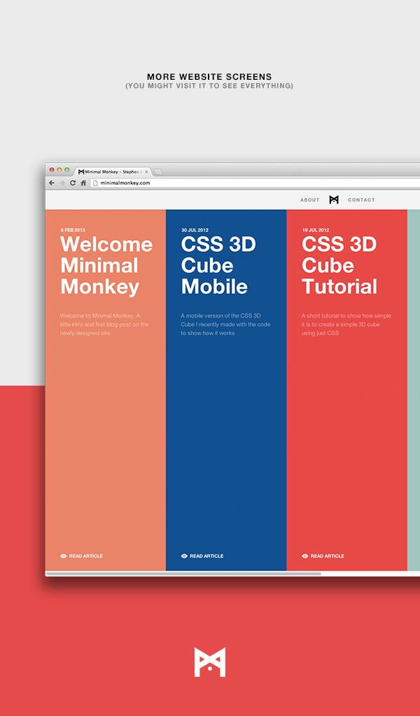 css3 html5 Webdesign interactive minimal monkey