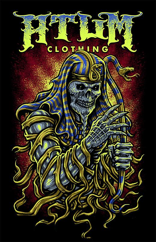Paraoh mummy design for Atum clothing