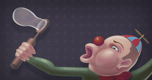 Circus Umbrella Flying soap bubble illucolor illustrate breath Vectorial Illustrator Plume