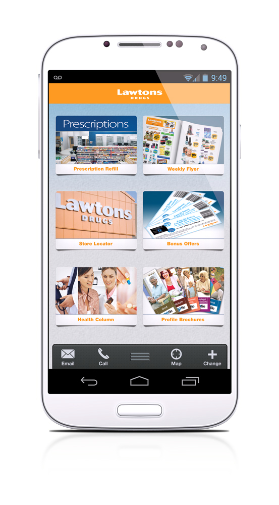Invision Design Studio - Lawtons Drugs iOS/Android App