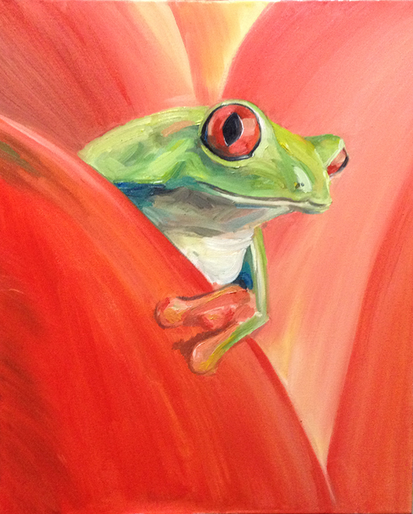 Frog - Oil Painting on Behance