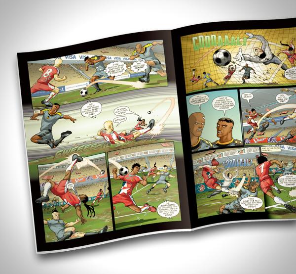 Supa Strikas Football Comic On Pantone Canvas Gallery