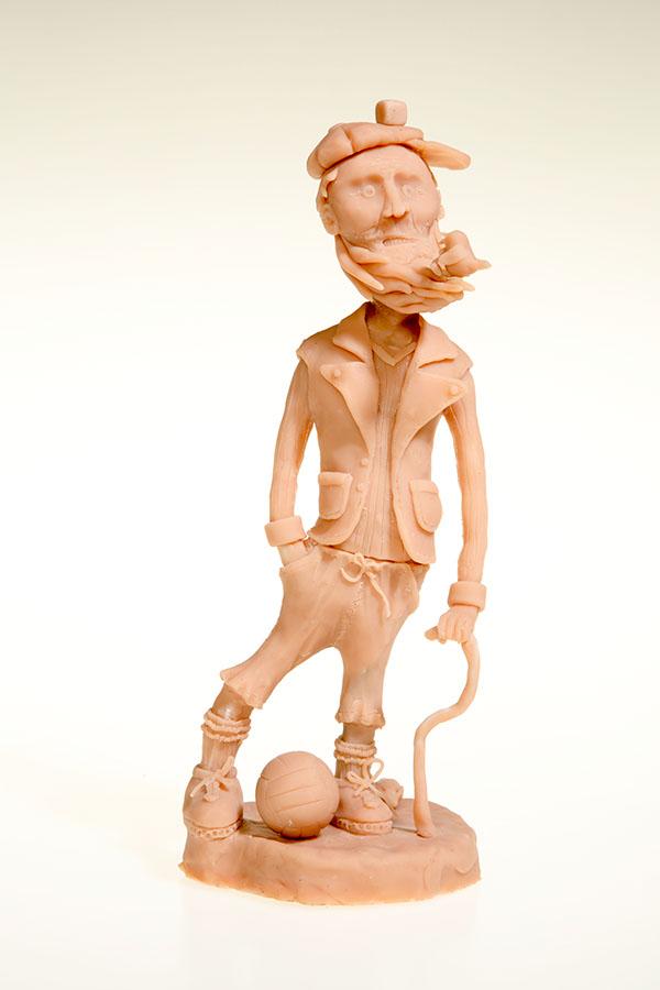 sculpey,sculpture,football,player,Character,weird,sparrow,bird