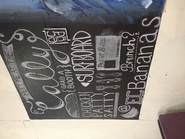 Chalkboard mural on behance for Thank you mural