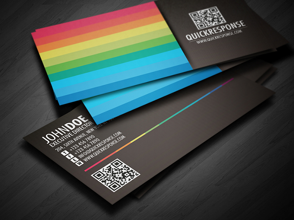 Quick response business card design ver 04 on Behance