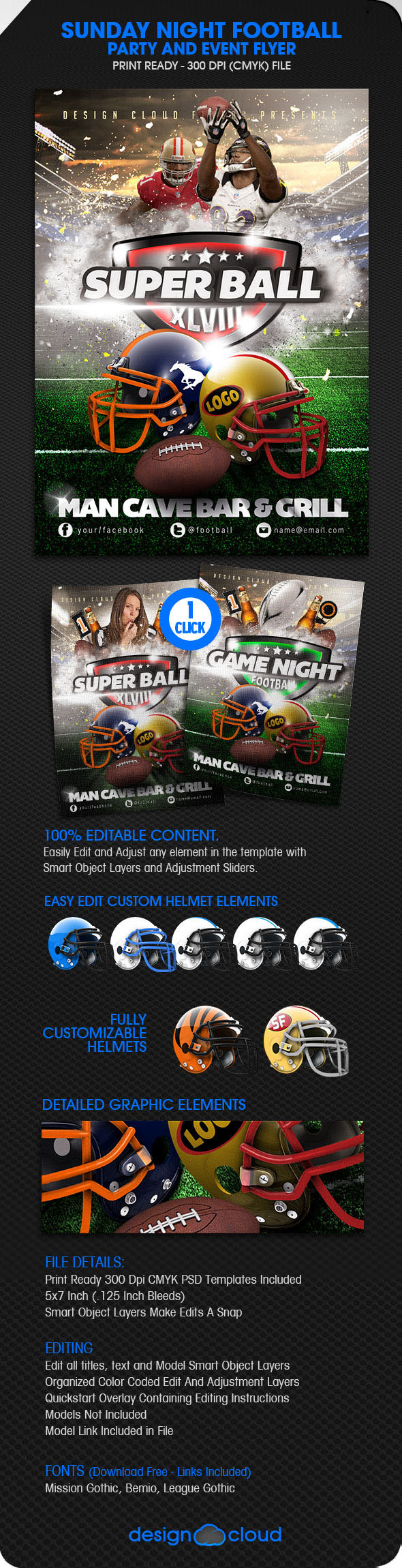 super bowl party flyer template aildoc productoseb co
