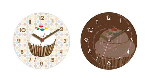 cupcakes clock time dessert