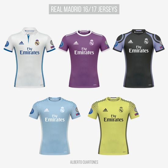 wholesale dealer 9b1be 0d28d Real Madrid 16/17 Kits on Behance