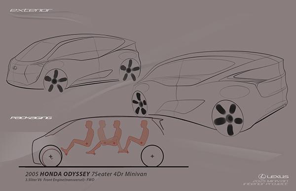 lexus minivan interior on behance