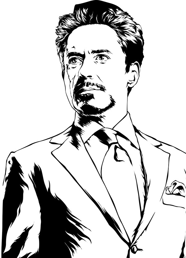 Tony stark is ironman on pantone canvas gallery for Tony stark coloring pages