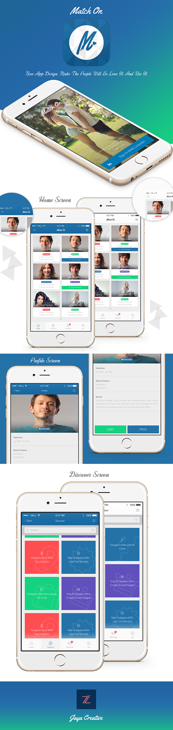 Match On (Incredible Dating App) on Behance