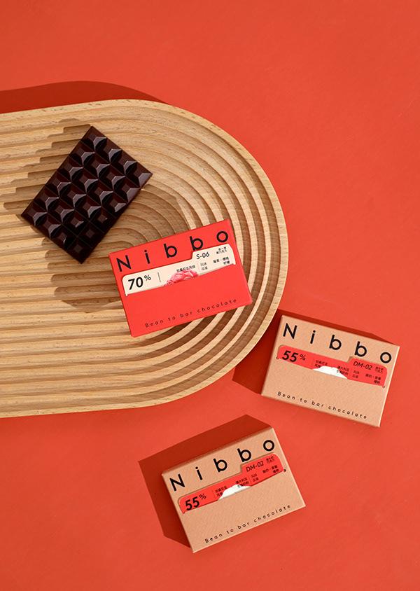 Nibbo Bean to Bar Chocolate Packaging Design