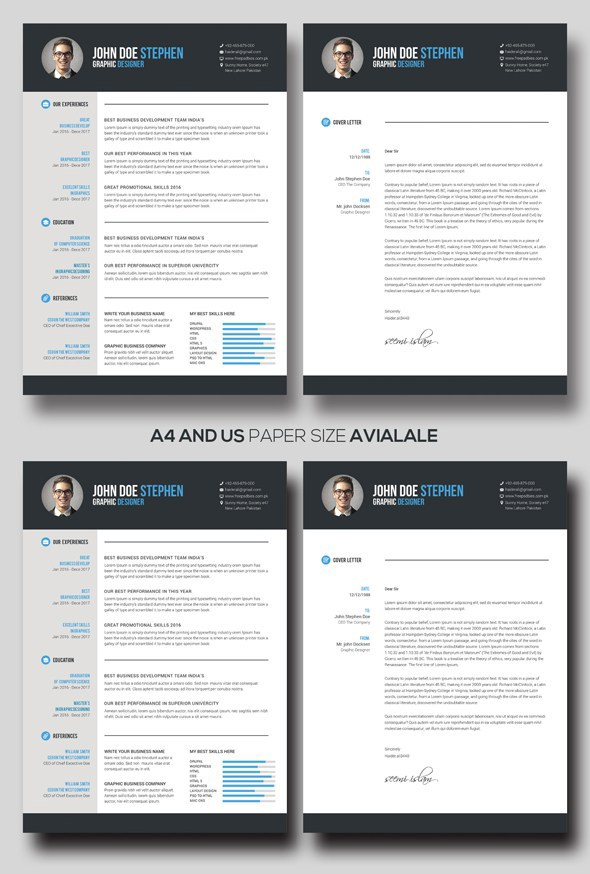 free resume  u0026 cover letter in ms word on behance
