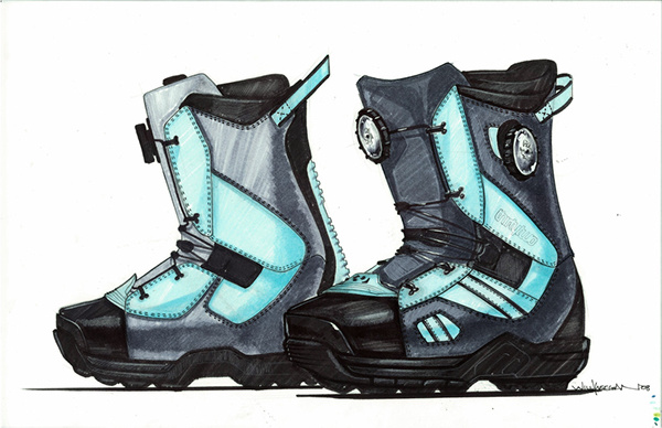 Industrial design sketches shoes Perspective Archdsgn Footwear Sketching On Behance