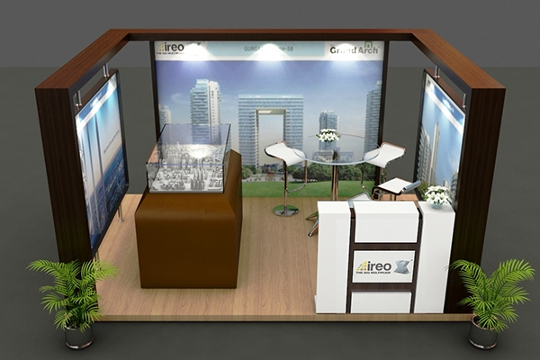 Property Exhibition Booth Design : Exhibition stall property show on behance