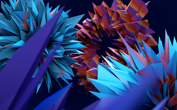 low-poly abstract