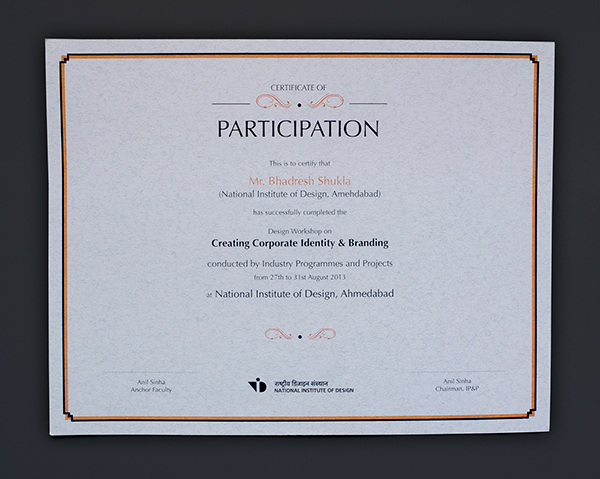 Thank You!  Design Of Certificate Of Participation