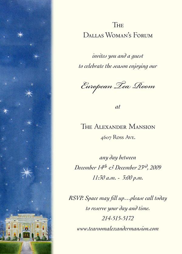 christmas tea invitations for dallas woman s forum on behance