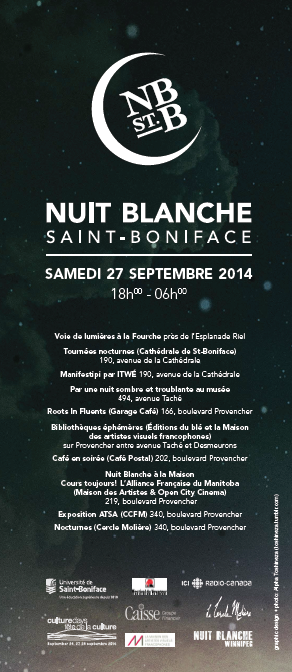 st boniface Winnipeg French Canada alpha toshineza 2014 nuit blanche culture days