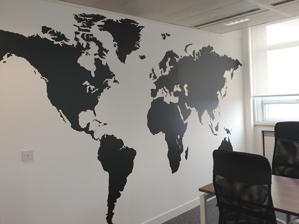 We Worked With Netbooster To Make Their Office Meeting Room Show Their  Global Perspective, And We Managed To Produce This 400cm X 230cm World Map  For Their ...