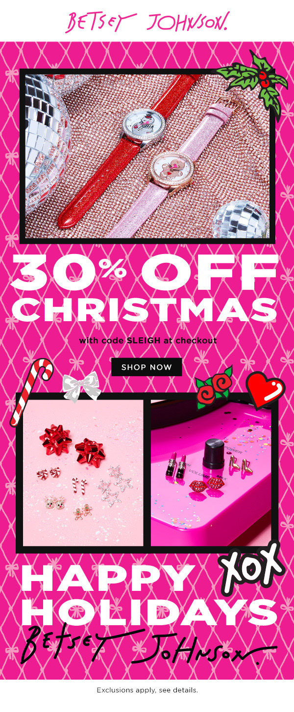 Email design for fashion brand, Betsey Johnson.