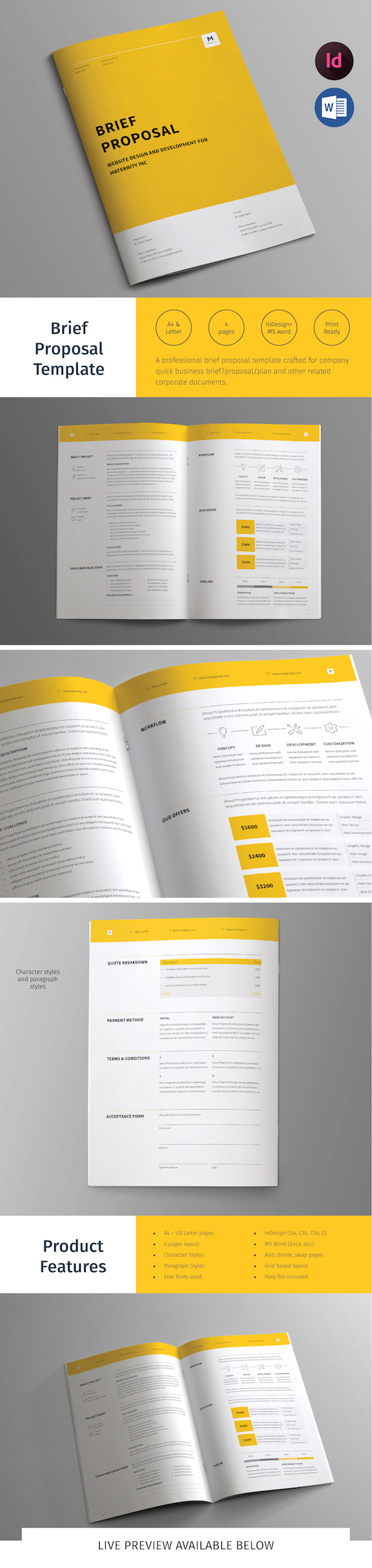 brief proposal template on behance