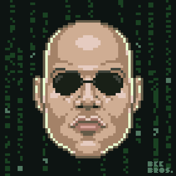 Pixel Face 2017 On Pantone Canvas Gallery