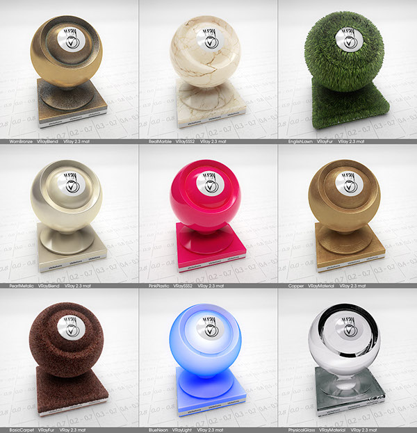 9 Free VRay Materials for 3ds Max on Behance