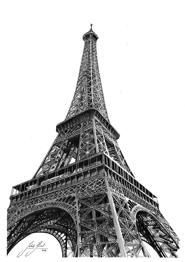 Eiffel Tower Pencil Sketch Eiffel Tower - ...