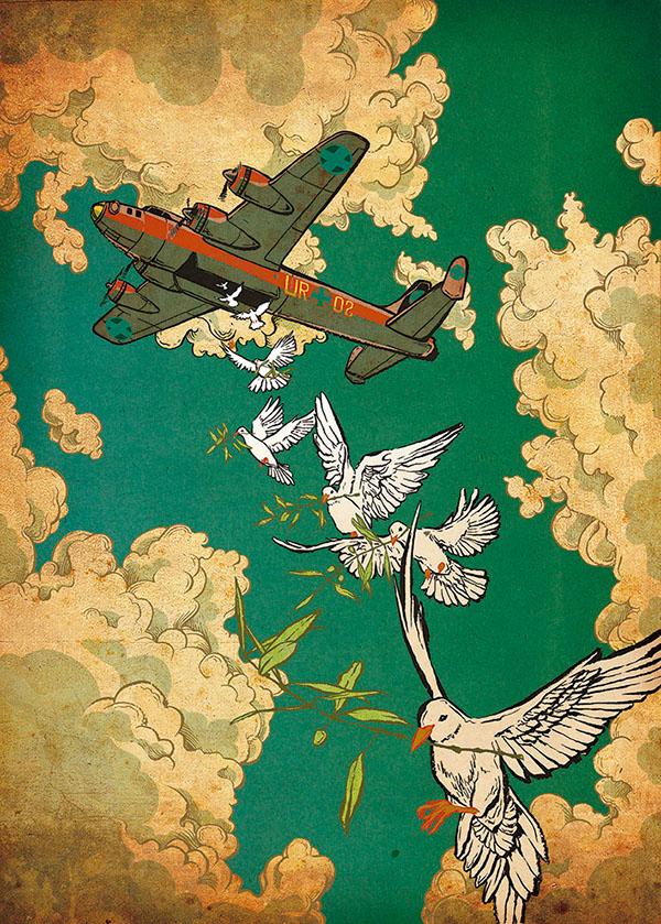 Against War poster by Javier Medellin Puyou