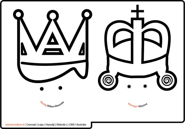 kleurplaat speciaal voor de eerste koningsdag on behance