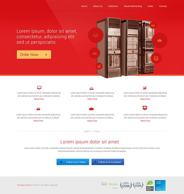 hosting Web icons
