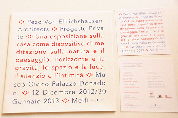 poster Pezo Von Ellrichshausen Cameracronica melfi basilicata