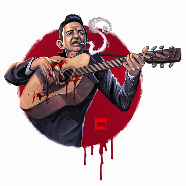 Johnny Cash by Raul Manriquez