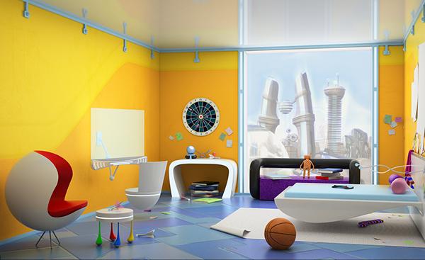 cartoon design,future architecture