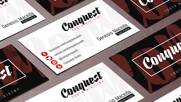 Conquest Youth Ministry Business Cards On Behance