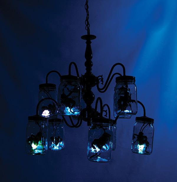 3d design  chandelier mason jar lighting insects