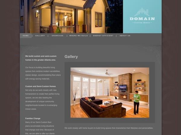 Domain custom homes website on behance for Best custom home builder websites