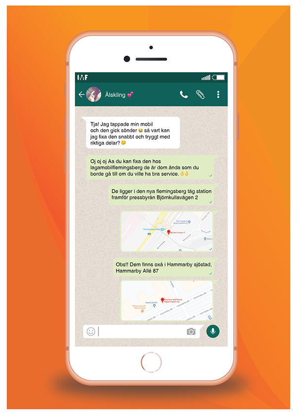 LMF Flyer Whatsapp chat marketing on Student Show
